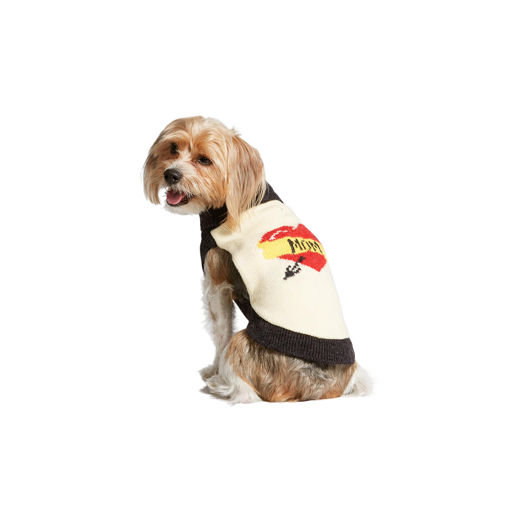 Mom Tattoo Knit Dog Sweater