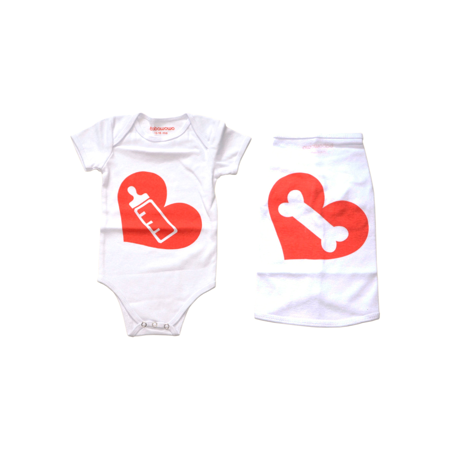 Milk Bone Baby Bodysuit and Dog T-Shirt