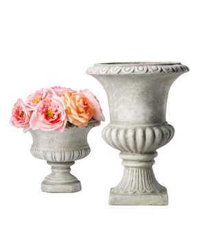 Antique Stone Polyresin Urns