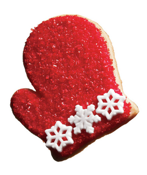 Red mitten cookie