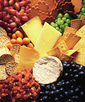 Cheese Platter with Dried Fruit Compote