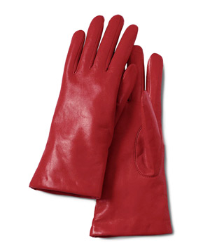 Lands' End Women's EZ Touch Leather Gloves