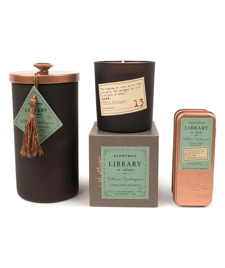Shakespeare library candles