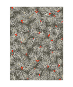 Pine Branch On Slate Wrapping Paper