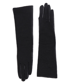 Zara Combination Faux Leather Long Glove