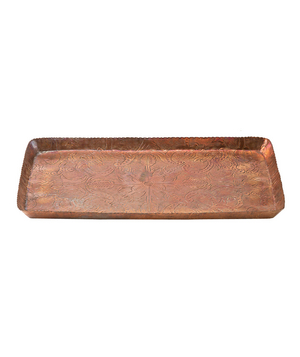 Inscribed Copper Tray