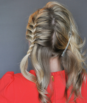 How To Do The Side French Braid Updo Real Simple