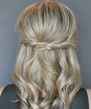 Half-Up Twist Hairstyle, Step 4
