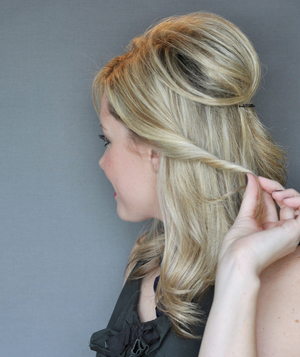 Half-Up Twist Hairstyle, Step 3