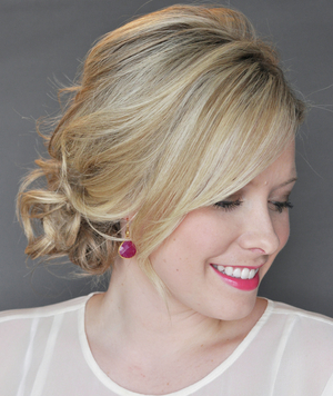 Side Updo With a Twist by Kate Bryan