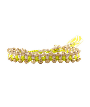 Chan Luu cotton-cord bracelet with gold-vermeil beads