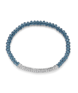 Lia Sophia crystal-and-cord bracelet