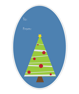 RealSimple.com gift tag by Rat Dog Ink, tree