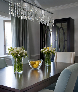 Unique crystal chandelier