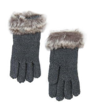 Mango Faux Fur Cuff Gloves