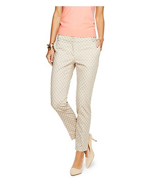 C. Wonder Dot Print Stretch Sateen Skinny Ankle Pant