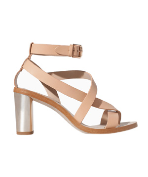 Zara Shiny Leather High Heel Sandal