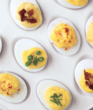 Hard boiled egg recipe ideas real simple deviled eggs four ways ccuart Choice Image