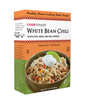 Cook Simple White Bean Chili With Chia Seeds and Bell Peppers
