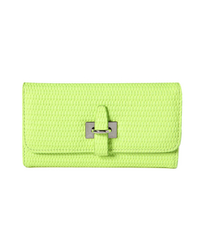 Forever 21 Neon Basket-Woven Wallet