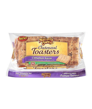 Nature's Own Cinnamon Raisin Oatmeal Toasters