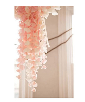 Pink decorations for a wedding reception