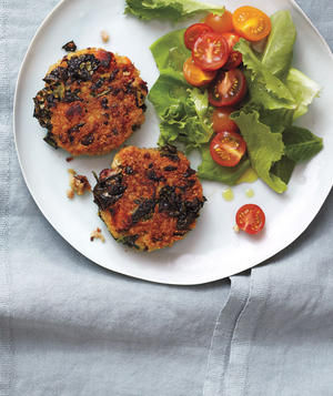 Crispy Quinoa and Bean Cakes With Salad