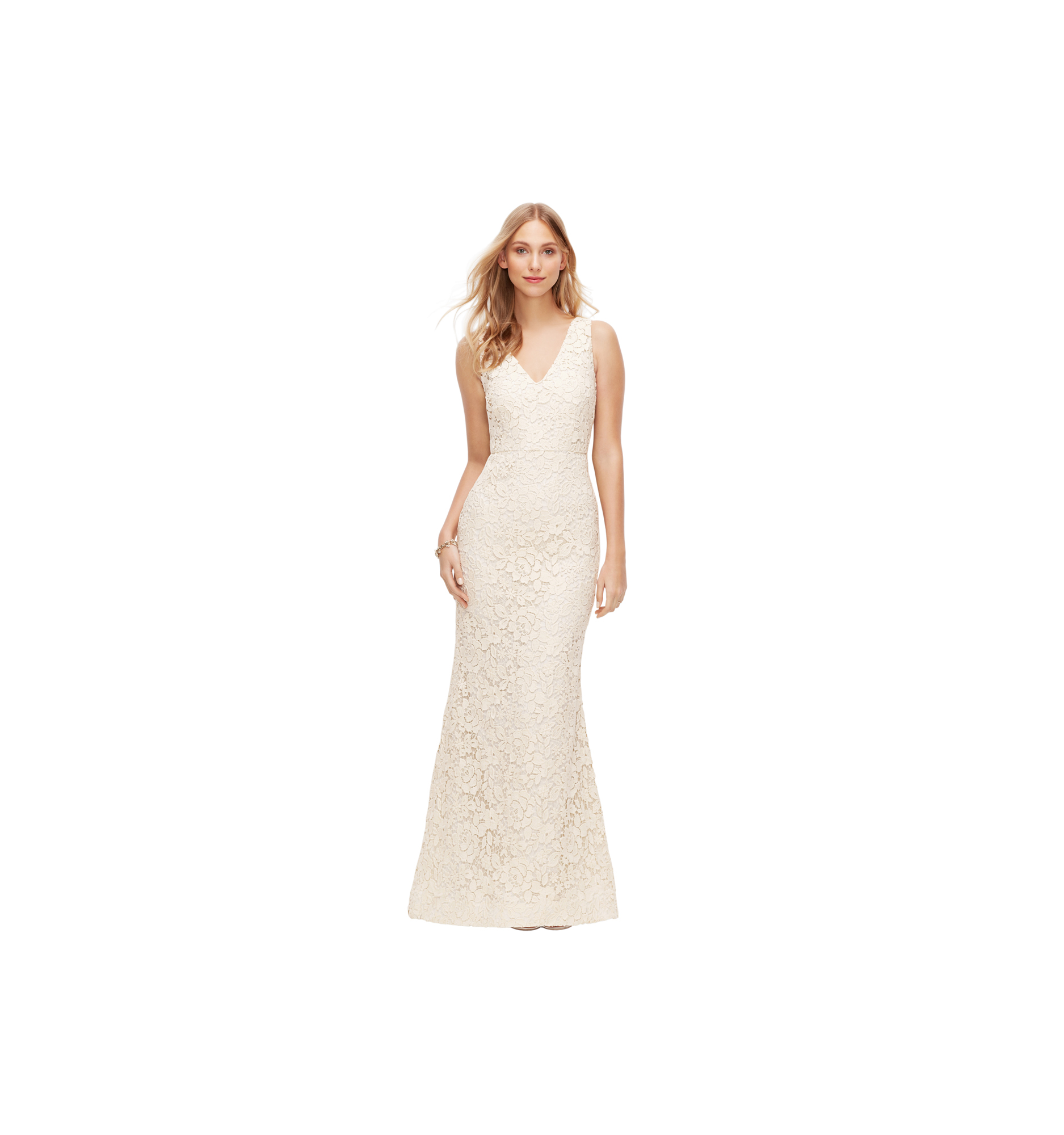 Ann Taylor Lace V-Neck Wedding Dress
