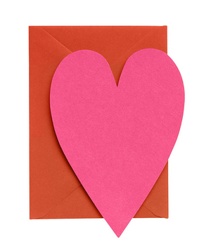 Paper Source Fuchsia Heart Cards With Persimmon Envelopes