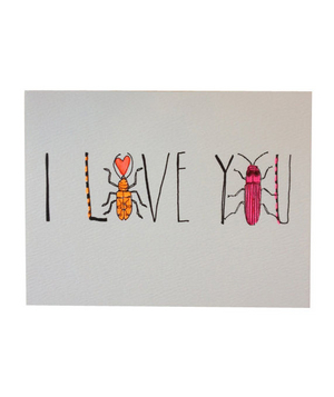 Hartland Brooklyn I Love You Beetle Card