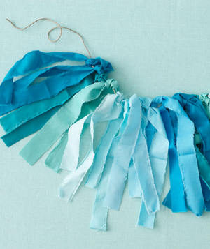 Beach-themed bridal shower garland