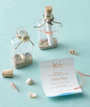 Beach-themed bridal shower invitation