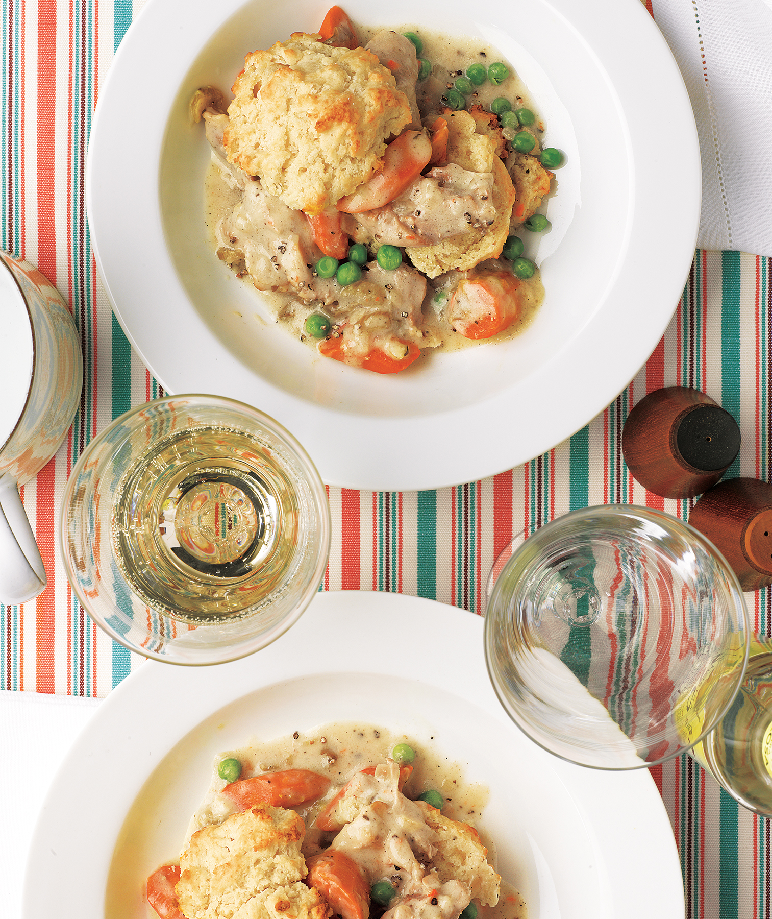 Slow-Cooker Creamy Chicken With Biscuits