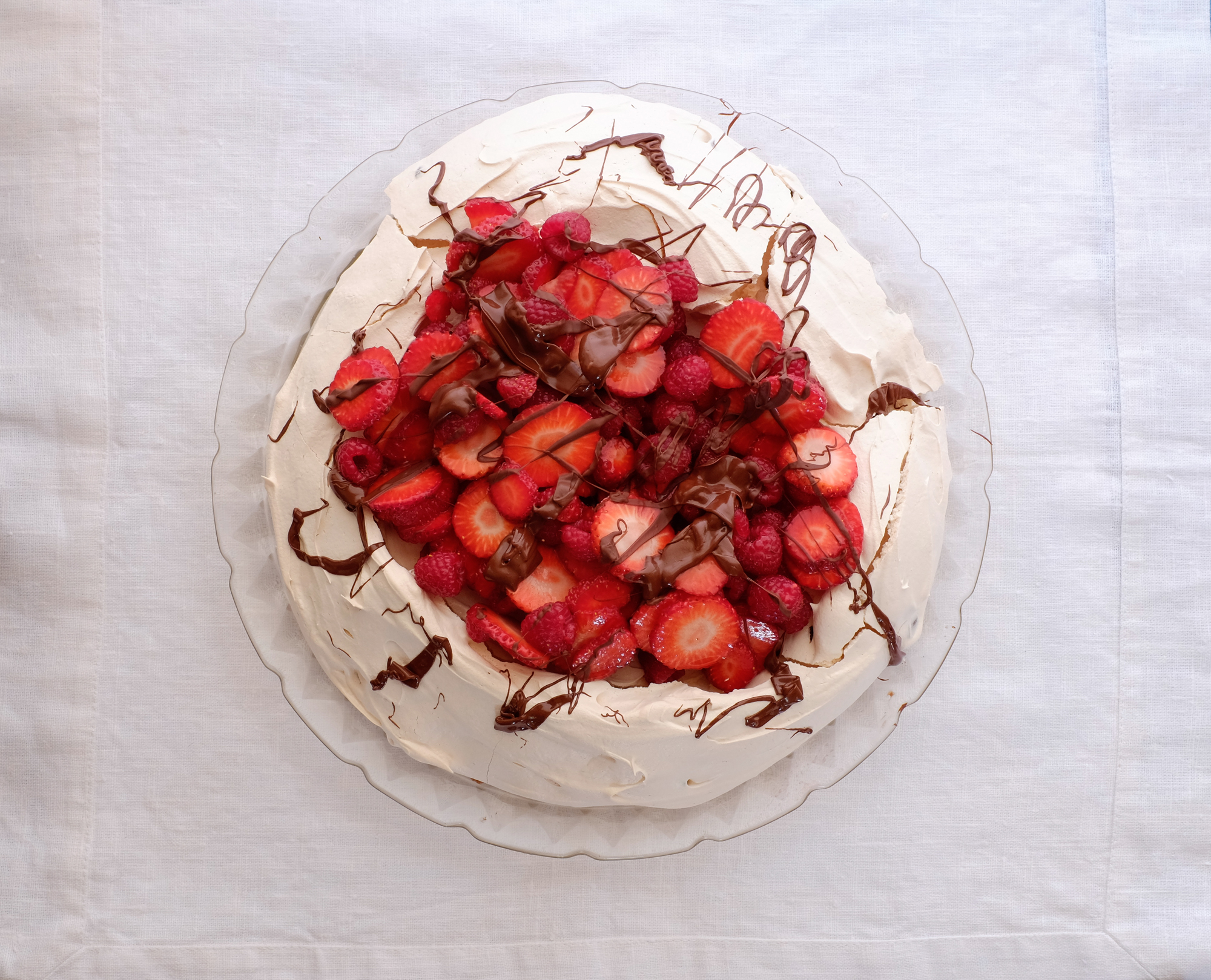 Red Berry and Chocolate Pavlova