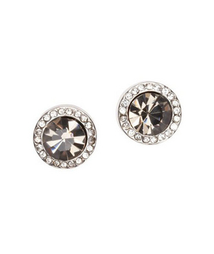Loft Black Stone and Pave Stud Earrings