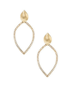 Chloe and Isabel Open Pave Leaf Earrings