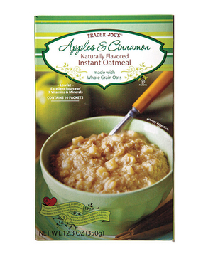 Trader Joe's Apples & Cinnamon Instant Oatmeal