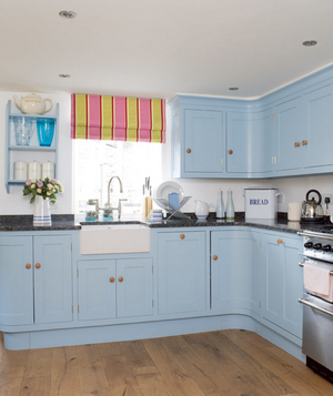 Delightful Blue Kitchen Cabinets