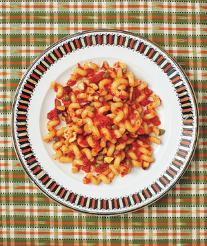 Cavatappi With Sun-Dried Tomatoes and Capers