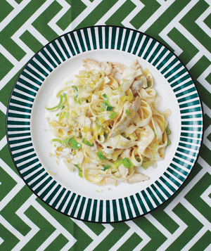 Creamy Fettuccine With Chicken and Leeks
