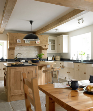 Natural Wood Decorated Kitchen