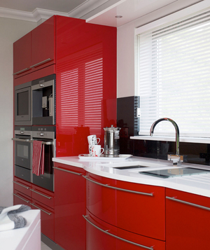 Glossy Red Kitchen Cabinets Part 98