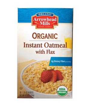 Arrowhead Mills Organic With Flax, Instant Oatmeal