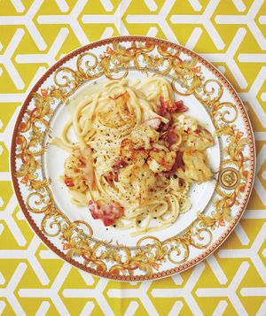 Linguine Carbonara With Cauliflower and Pancetta