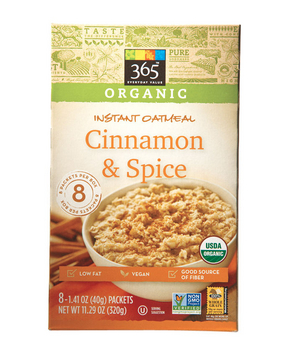 365 Everyday Value Organic Cinnamon & Spice Instant Oatmeal