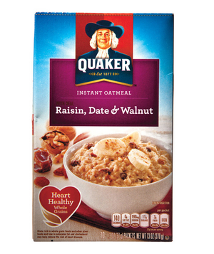 Quaker Raisin, Date & Walnut Instant Oatmeal