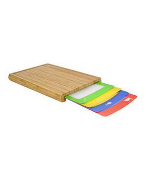 Casabella Chop 'N Prep Bamboo Cutting Boards