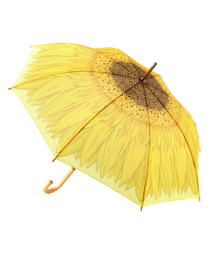 Yellow Sunflower Stick Umbrella