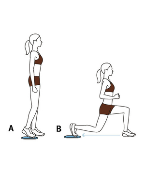 Illustration of Valslide reverse lunge