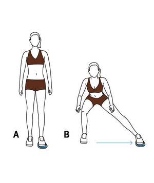 Illustration of Valslide side lunge